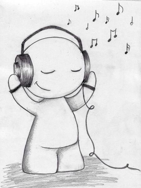 Красивые, прикольные картинки для срисовки Музыка - подборка 13