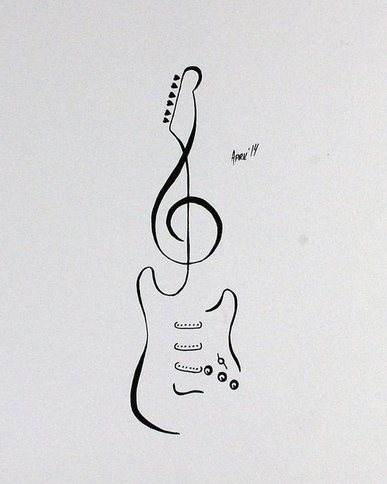 Красивые, прикольные картинки для срисовки Музыка - подборка 3