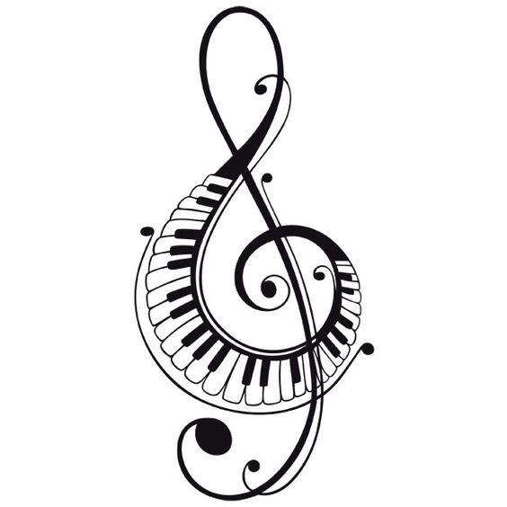 Красивые, прикольные картинки для срисовки Музыка - подборка 5