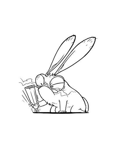 Лучшие картинки для срисовки зайчика, заяц - подборка рисунков 8