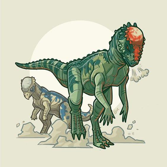 Очень красивые картинки динозавров для срисовки - подборка 1