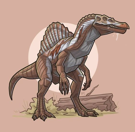Очень красивые картинки динозавров для срисовки - подборка 10
