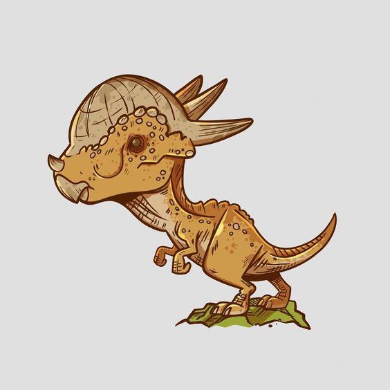 Очень красивые картинки динозавров для срисовки - подборка 15