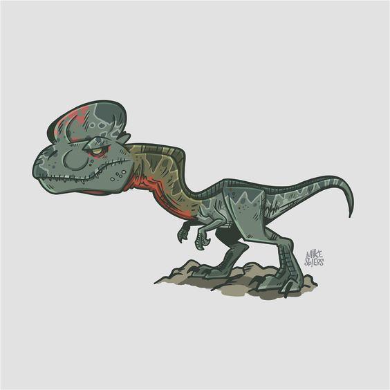 Очень красивые картинки динозавров для срисовки - подборка 16