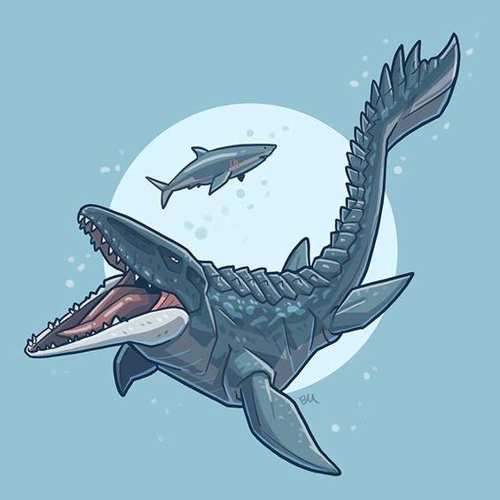 Очень красивые картинки динозавров для срисовки - подборка 23