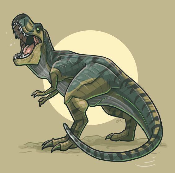 Очень красивые картинки динозавров для срисовки - подборка 8