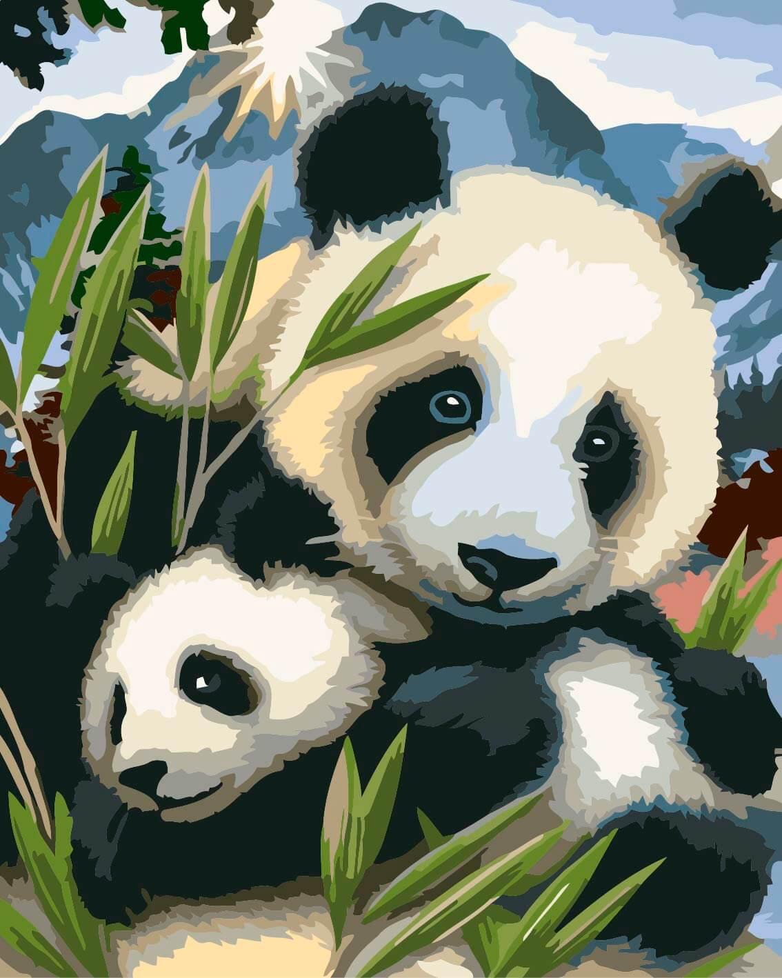 Панды очень красивые и прикольные картинки, арты, фото - подборка 17