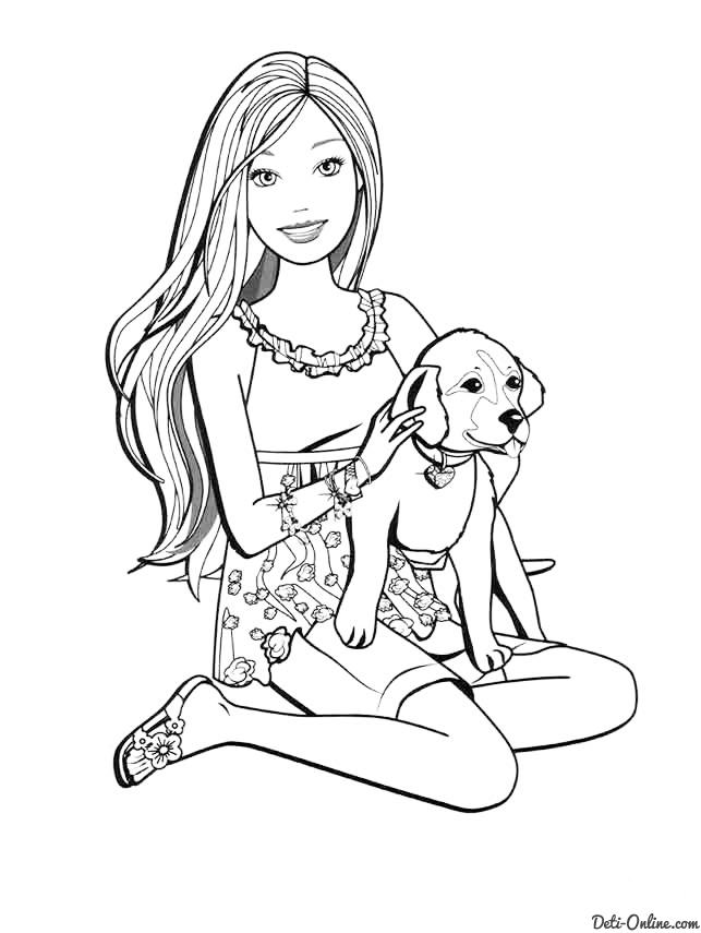 Прикольные и красивые картинки Барби для срисовки для детей 6