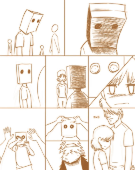 Прикольные и милые аниме комиксы про любовь и отношения 15