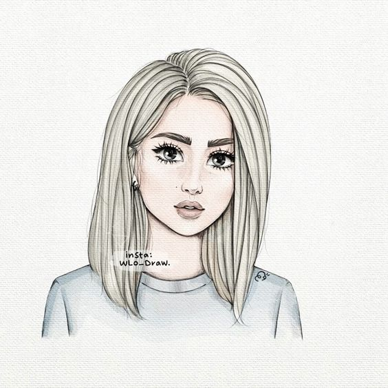 Прикольные и милые картинки, рисунки срисовки для девочек - сборка 11