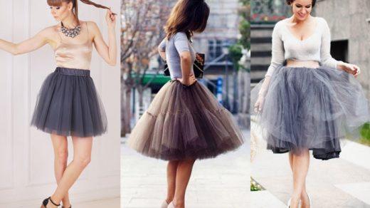 С чем носить фатиновую юбку - одежда, цветовое сочетание 1
