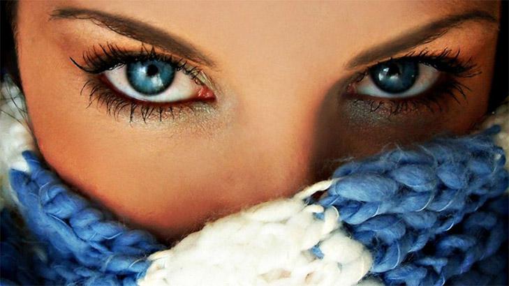 Удивительные картинки глаза девушек на аву и аватарку - подборка 6
