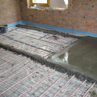 Как залить бетонную стяжку поверх теплого пола - способы и советы 2