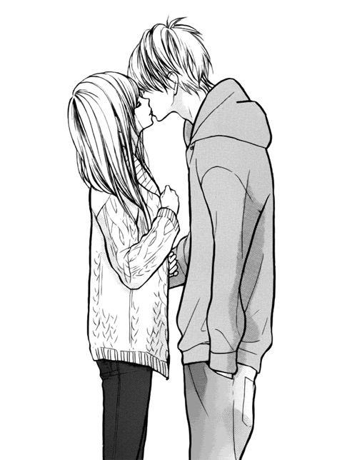 Красивые и милые рисунки карандашом для срисовки поцелуи 2