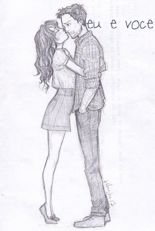 Красивые и милые рисунки карандашом для срисовки поцелуи 6