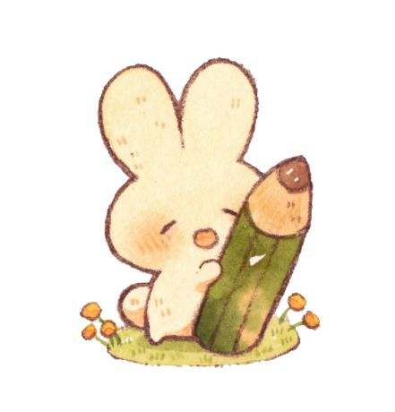 Красивые и простые рисунки, картинки кроликов для срисовки - сборка 11