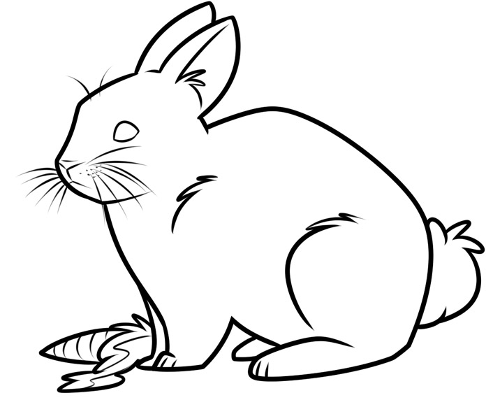 Красивые и простые рисунки, картинки кроликов для срисовки - сборка 2