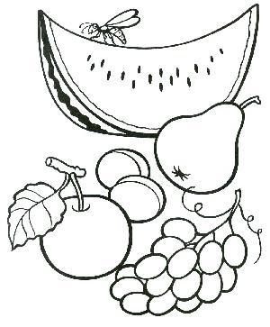 Красивые картинки для раскраски фрукты и овощи - подборка 18