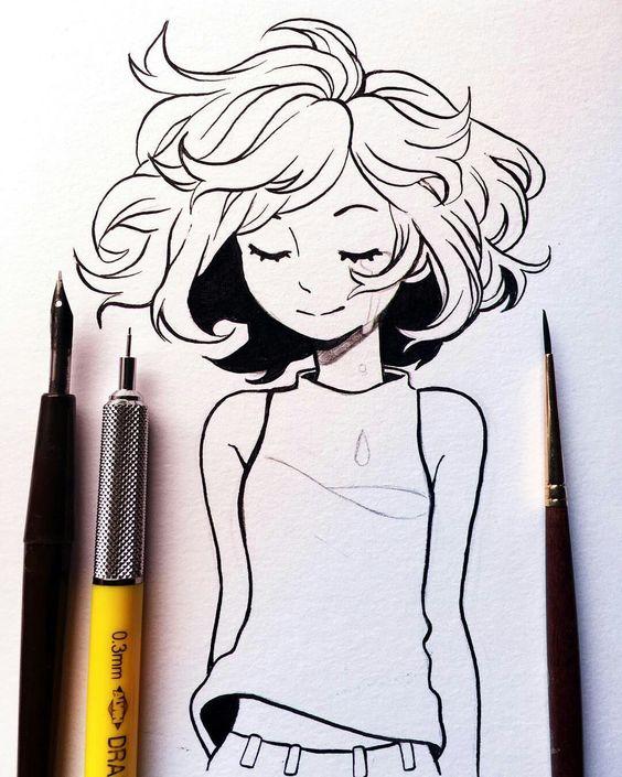 Красивые картинки и рисунки для срисовки лицо девушки - подборка 11