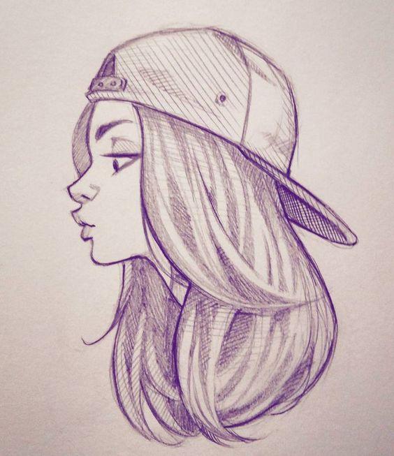 Красивые картинки и рисунки для срисовки лицо девушки - подборка 17