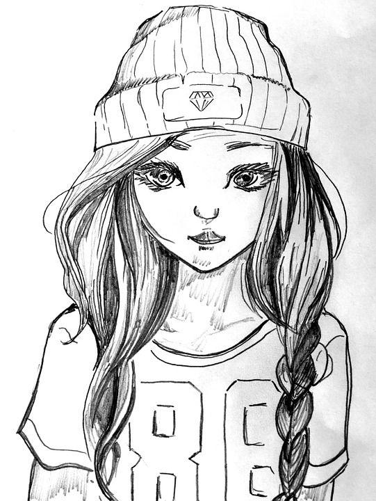 Красивые картинки и рисунки для срисовки лицо девушки - подборка 8