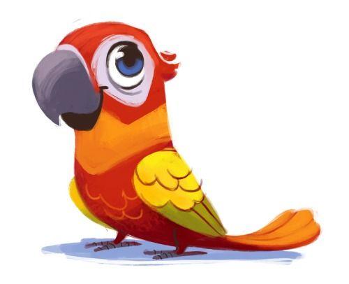 Красивые картинки и рисунки попугаев для срисовки для детей 1