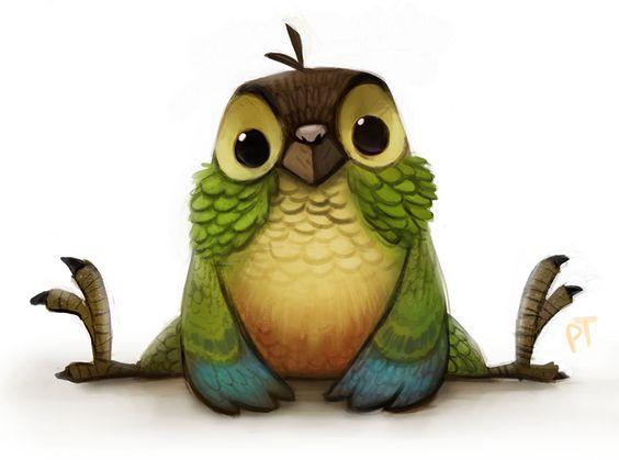 Красивые картинки и рисунки попугаев для срисовки для детей 3