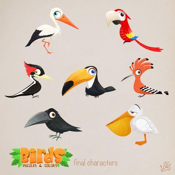 Красивые картинки и рисунки попугаев для срисовки для детей 6