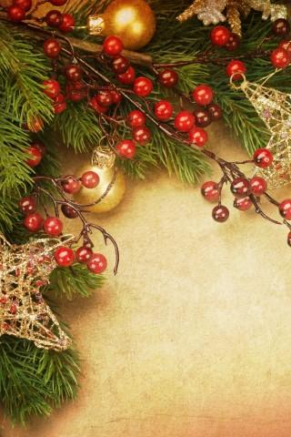 Красивые обои Новый Год для заставки телефона - лучшие картинки 12