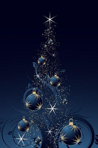 Красивые обои Новый Год для заставки телефона - лучшие картинки 13