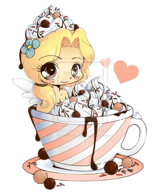 Няшные картинки сладости и десерты - картинки, рисунки для девочек 2