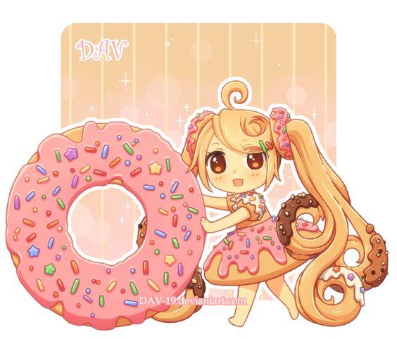 Няшные картинки сладости и десерты - картинки, рисунки для девочек 3