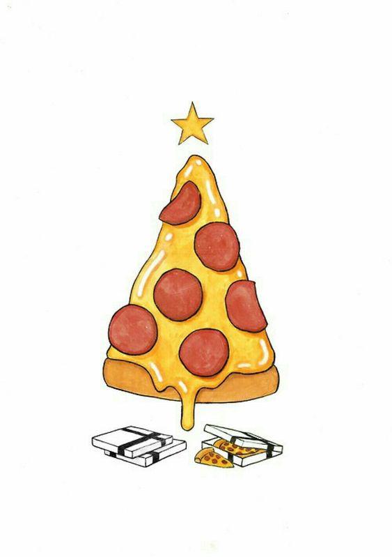 Прикольные и необычные картинки пиццы для срисовки - сборка 15