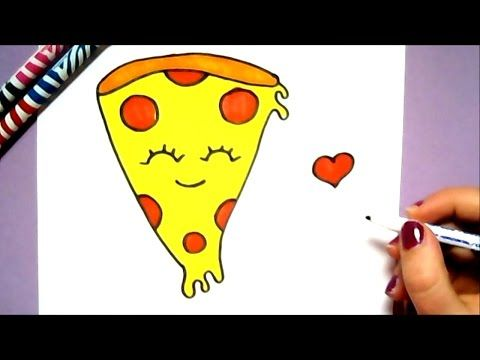 Прикольные и необычные картинки пиццы для срисовки - сборка 17