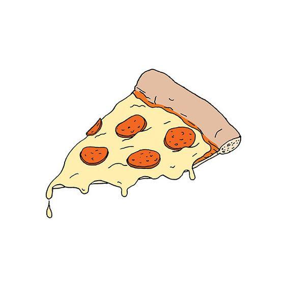 Прикольные и необычные картинки пиццы для срисовки - сборка 7
