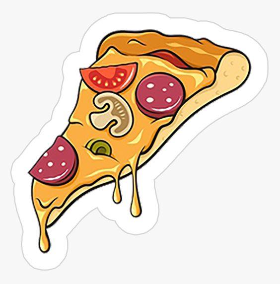 Прикольные и необычные картинки пиццы для срисовки - сборка 8