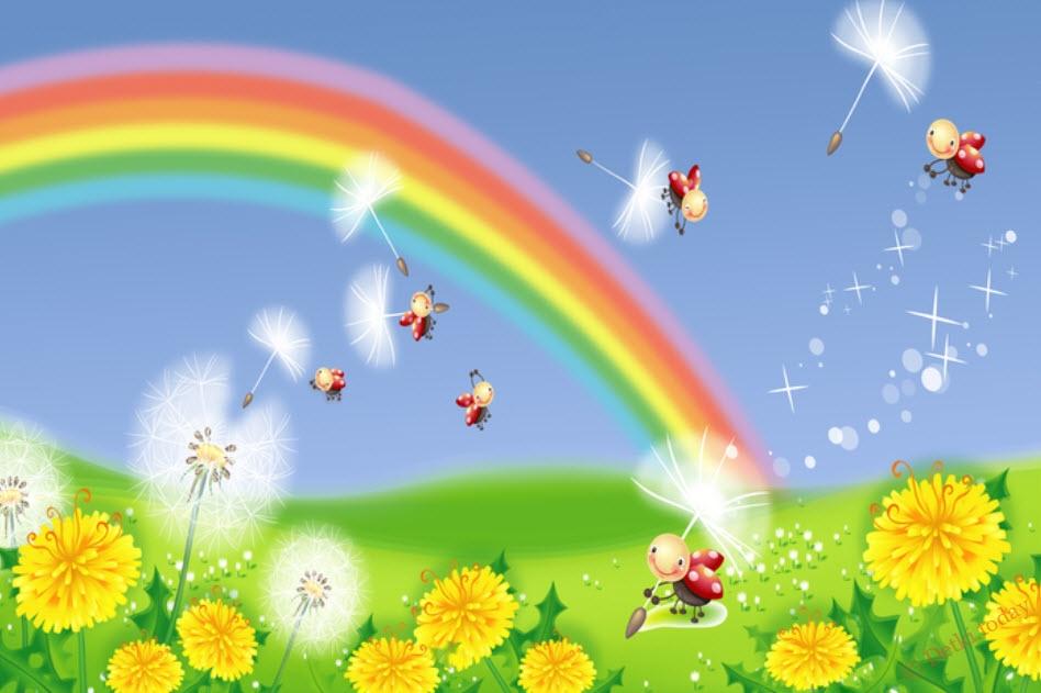 Радуга картинки для детей и малышей - самые красивые, прикольные 1