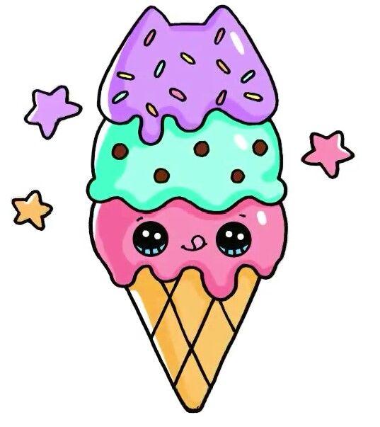 Рисунки и картинки мороженого для срисовки - подборка 2018 9