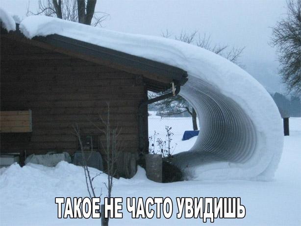 Смешные и забавные картинки про зиму и снег - подборка 12
