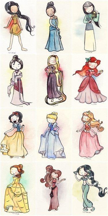 Удивительные и красивые картинки принцесс, принцесс в платьях 2