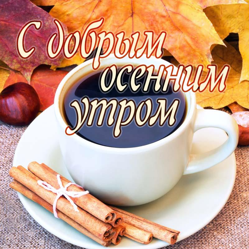 Доброе утро ноября - самые красивые и милые открытки, картинки 10