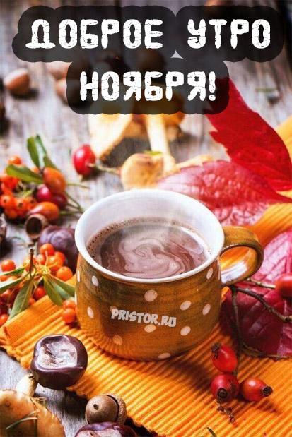 Доброе утро ноября - самые красивые и милые открытки, картинки 3
