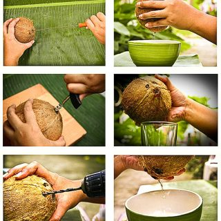 Как легко открыть кокос дома Инструкция, чтобы открыть кокос 1