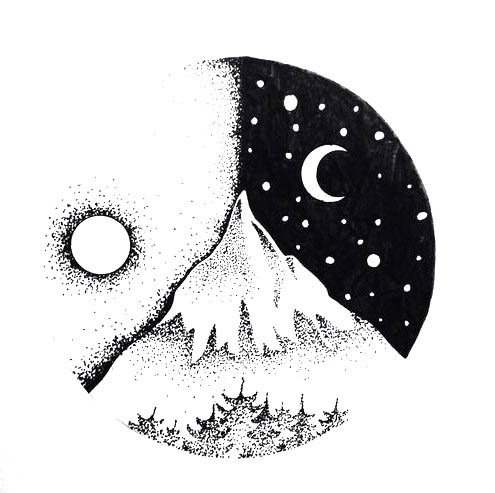 Красивые и прикольные картинки, рисунки гор для срисовки - сборка 12