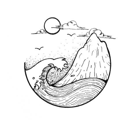 Красивые и прикольные картинки, рисунки гор для срисовки - сборка 7