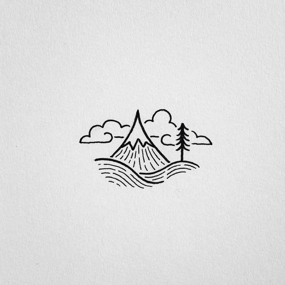 Красивые и прикольные картинки, рисунки гор для срисовки - сборка 8