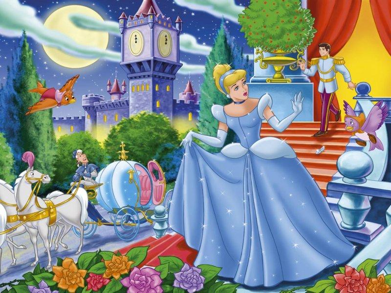 Красивые картинки Золушки для детей из сказки - подборка 10
