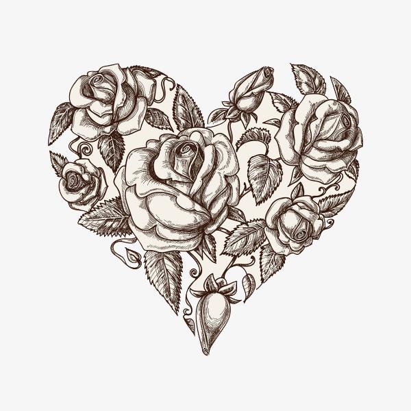 Красивые картинки Сердца для срисовки - самые необычные 10