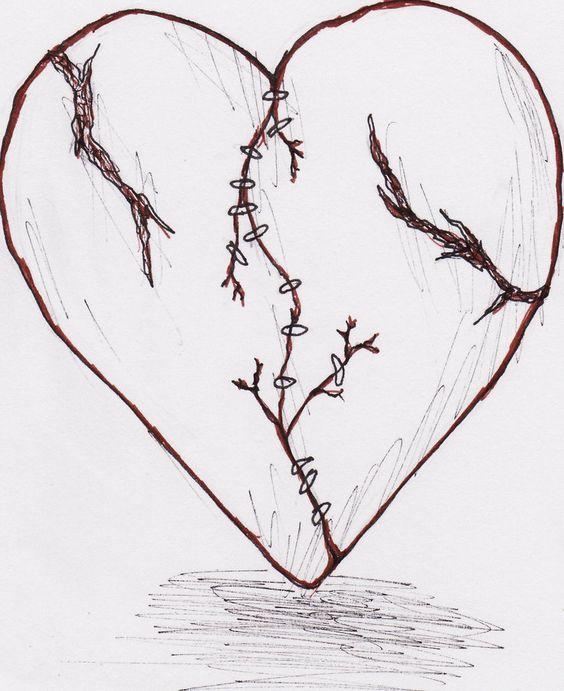 Красивые картинки Сердца для срисовки - самые необычные 9