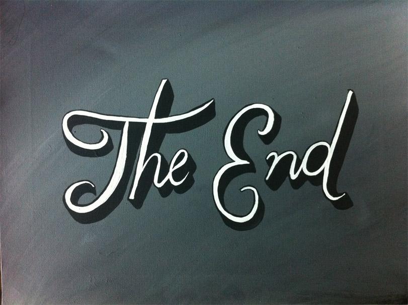Красивые картинки со смыслом со словом Конец, The End - сборка 7